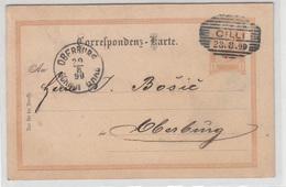 Austria - Slovenia, Postal Stationery Correspondenz-karte Travelled 1899 Cilli (Celje) To Gornji Grad (Oberburg) B190110 - Slovénie