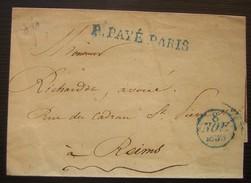 Port Payé 1833:  Marque En Bleu P.PAYE.PARIS - 1801-1848: Précurseurs XIX