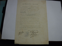 AUTOGRAFO  -- ITALIA  ---  POLITICA  .-. CONSOLE  GENERALE D'ITALIAIN CORFU' ---. G. CALECA - Autographes