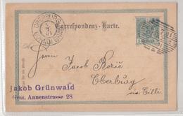 Austria, Postal Stationery Correspondenz-karte Travelled 1901 Graz To Gornji Grad (Oberburg) B190110 - Slovénie
