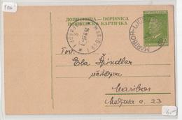 Yugoslavia, Postal Stationery Dopisnica Travelled 1953 Maribor-Ljubljana (railway Pmk) To Maribor B190110 - Slovénie