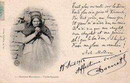 91Md   Costume Du Morvan Morvandeau Vieille Paysanne Poeme De Achille Millien - Fairy Tales, Popular Stories & Legends