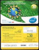 Bolivia 2011 - 30-08-2012 Pre-Pago ENTEL. 1ª IMPRESION Medio Ambiente: Cuidar Nuestro Planeta Responsabilidad De Todos - Bolivië