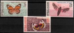 D - [828399]Nouvelle-Calédonie 1967-68 - PA92/94,  Papillons, Poste Aérienne, SC, Très Peu Courant - Papillons