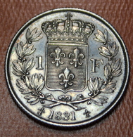 1 FRANC HENRI V 1831 SUP  -  2 SCANS - H. 1 Franco