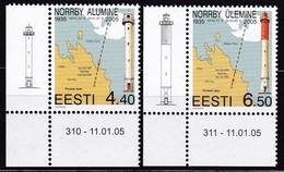 2005, EESTI, 502/03, Leuchttürme Von Norrby. MNH ** - Estonia
