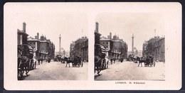 PHOTO STEREOSCOPIQUE - LONDON - WHITEHALL - VERY ANIMATED !! édit. Steglitz Berlin 1906 - Photos Stéréoscopiques