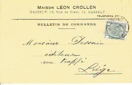 CP/PK Publicitaire HASSELT 1910 - Maison LEON CROLLEN - Boekhandel - Hasselt
