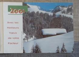 Petit Calendrier Poche 2001 Lavigne PTT Facteur Notre Dame De Bellecombe Savoie - Calendars