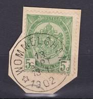 N° 56 / Fragment Depot Relais  WOMMELGHEM - 1893-1907 Wappen