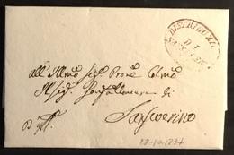 1837. S. SEVERINO PER CITTA' - Italy