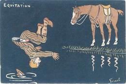 Cpa Signée Fernel - Equitation , Cheval, Jockey - Fernel