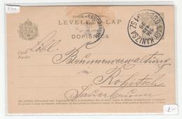 Hungary - Croatia, Postal Stationery Levelező-lap Dopisnica Travelled 1906 Brod-Nagykanizsa Railway Pmk B190110 - Croatia