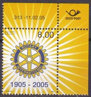 2005, EESTI, 505, 100 Jahre Rotary International MNH ** - Estonia