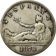 Monnaie, Espagne, Provisional Government, 2 Pesetas, 1870, Madrid, TTB, Argent - [ 1] …-1931 : Royaume