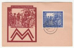 Leipziger Messe Stamp On Drucksache Leipzig 1948 Pmk B190110 - American,British And Russian Zone