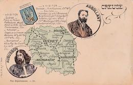 Carte 1900 Département De La Creuse Ville Et Village (Assollant,Aubusson ) - France