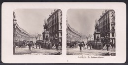 PHOTO STEREOSCOPIQUE - LONDON - HOLBORN CIRCUS - VERY ANIMATED !! édit. Steglitz Berlin 1906 - Stereoscopic