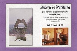 88 SAINT ETIENNE LES REMIREMONT Auberge De Purifaing M. Jacky Aubry Bar R Estaurant - Saint Etienne De Remiremont