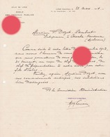 Liège 1914 Ecole Des Travaux Publics Pour Dozot  Entrepreneur à Cerexhe Heuseux - Belgique