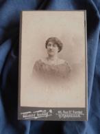 Photo CDV Tully à Marseille  Portrait Nuage Femme  Col En Dentelle  CA 1900 - L417 - Photos