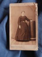 Photo CDV Froment à Montpellier  Jeune Femme En Pied  Second Empire  CA 1860 - L417 - Photos