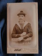 """Photo CDV Maurel à Toulon  Portrait Marin  Bachi """"... Du Port"""" ?   CA 1895 - L417 - Photos"""