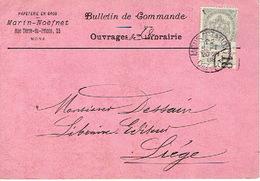 CP/PK Publicitaire MONS 1908 - MARIN-NOEFNET- Papeterie En Gros - Mons