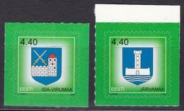 2005, EESTI, 507/08, Freimarke: Wappen. MNH ** - Estonia