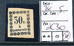 GUADELOUPE POSTAGE DUE TAXE DALLAY MAURY 5 LH CHARNIERE - Guadalupe (1884-1947)