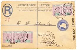 1901 R-Ganzsachenbrief Aus Accra Nach Hull - Côte D'Or (...-1957)