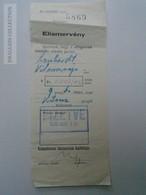 D162649 Hungary - Cabinet De Dentiste  - Dr. Zavaros Béla -  Receipt  9.40 P   Budapest 1940   Lenhardt Vilmos  Főtiszt - Factures & Documents Commerciaux