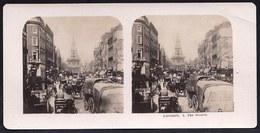 PHOTO STEREOSCOPIQUE - LONDON - THE STRAND - VERY ANIMATED !! édit. Steglitz Berlin 1906 - Stereoscopic