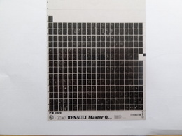 Microfiche Renault Master Q  1981>  Pr  1109 - Autres Collections