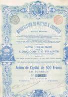 Manufacture De Feutres Et Chapeaux 1898 Bruxelles - Textile