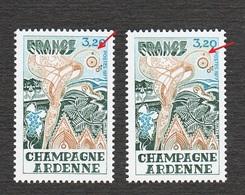 Variété Variétés Champagne Ardenne NEUF ** 1920** Point Sous Le 2, Satellite Bleu Ou Marron - Varieties: 1970-79 Mint/hinged
