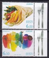 2005, EESTI, 515/16, Europa: Gastronomie. MNH ** - Estonia