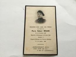Avis De Décès D'un Soldat Mort Suite à Sa Captivité 1942 Ancien Chasseur - 1939-45