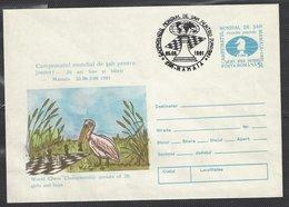 Chess, Romania Mamaia, 05.09.1991. Special Cancel & Cachet On Rare 5L Prepaid Envelope, World Junior Championship - Chess