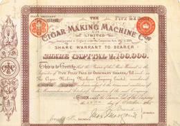 CIGAR MAKING MACHINE Cp 1 Att - Actions & Titres