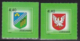 2005, EESTI, 523/24, Freimarke: Wappen Der Bezirke. MNH ** - Estonia