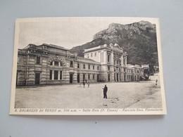 CARTOLINA S. DALMAZZO DI TENDA (VALLE ROIA) - FACCIATA STAZIONE FERROVIARIA - Cuneo