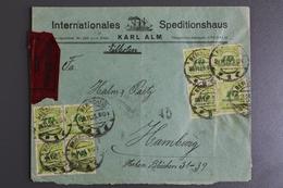 Deutsches Reich, MiNr. 328 A, 12-fach Frankatur, Per Eilbote - Lettres & Documents
