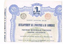 Developpementde L'industrie Et Du Commerce Empire D'Ethiopie Cp 1 Att - Industrie