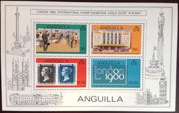 Anguilla 1980 London 80' Minisheet MNH - Anguilla (1968-...)