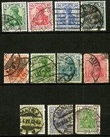 Allemagne - 1905-1920 - N° 83 à 85, 103, 120 à 123, 125 Et 128 - Oblitéré - Usados