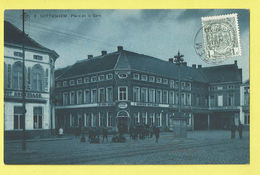 * Zottegem - Sotteghem (Oost Vlaanderen) * (SBP, Nr 8) Place De La Gare, Belle Animation, Animée, Tramway, TOP, Unique - Zottegem