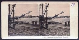 PHOTO STEREOSCOPIQUE - SWEDEN - JÖNKÖPING - VIEW OF HARBOUR - PORT - HAFEN !! AROUND 1906 - Photos Stéréoscopiques