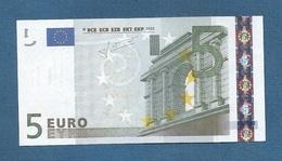 FRANCIA - 2002 - BANCONOTA DA 5 EURO FIRMA TRICHET  SERIE U (L029A2) - NON CIRCOLATA (FDS-UNC) - OTTIME CONDIZIONI. - 5 Euro
