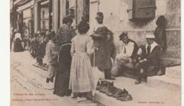 *** Croquis De Foire Le Vendeur De Chaussures - Madame J'vous L' Garantis Tout Cuir -- Authentiqure Dos Simple Timbrée - Ambulanti